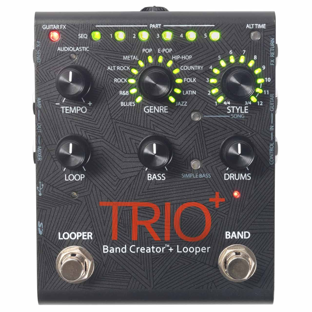 Pedals & Effects - Digitech TRIO+ Band Creator + Looper