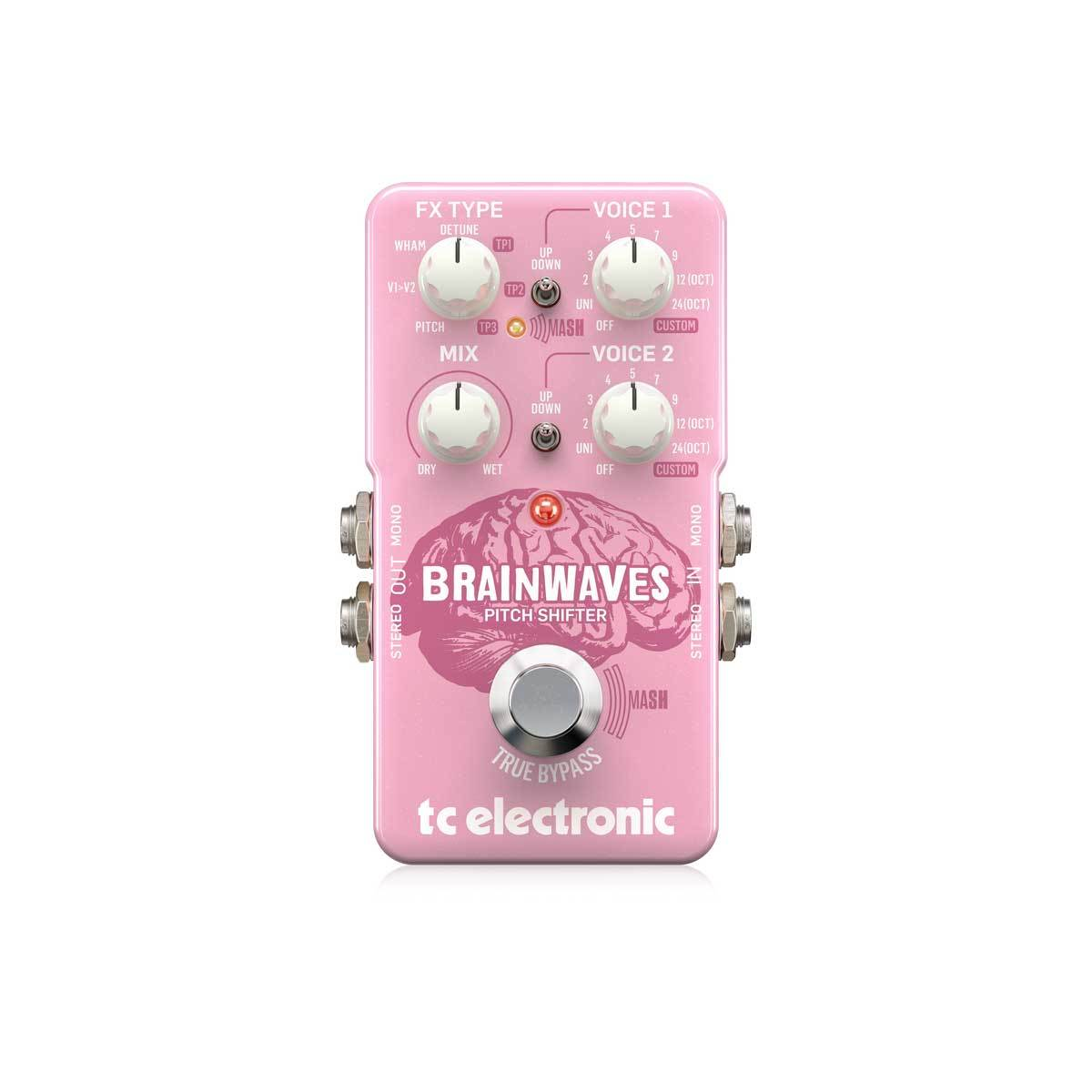 Pedals & Effects - TC Electronic Brainwaves Studio-Grade Pitch Shifter With 4 Octave Dual Voices