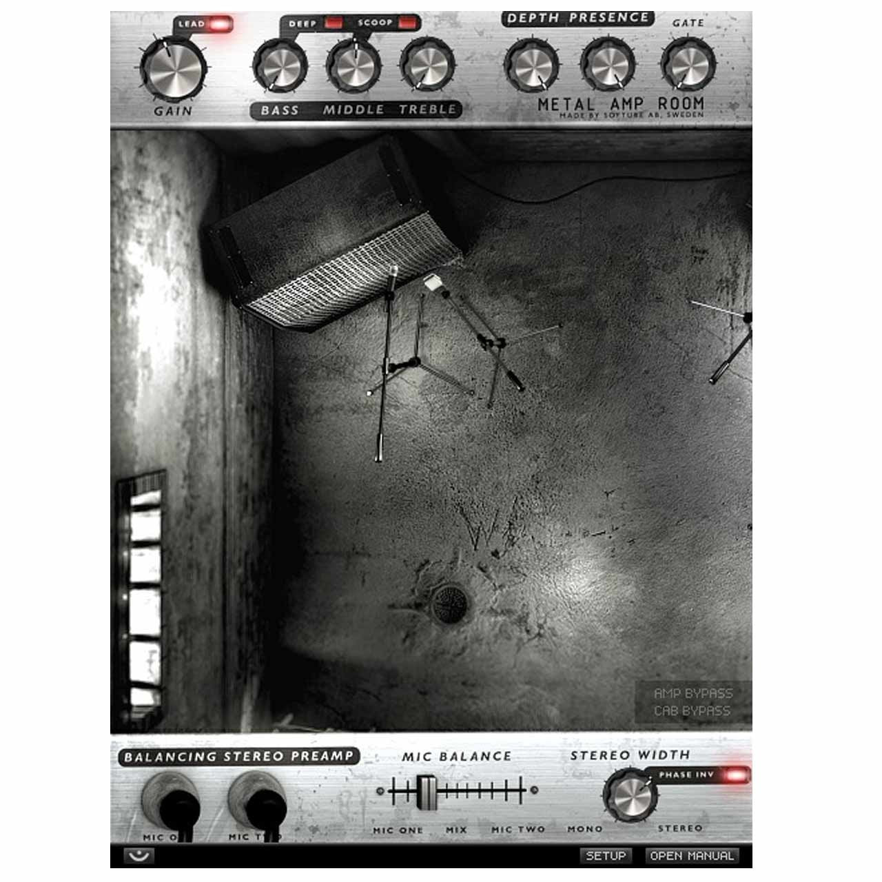Softube Metal Amp Room - Virtual Guitar Amp Simulator