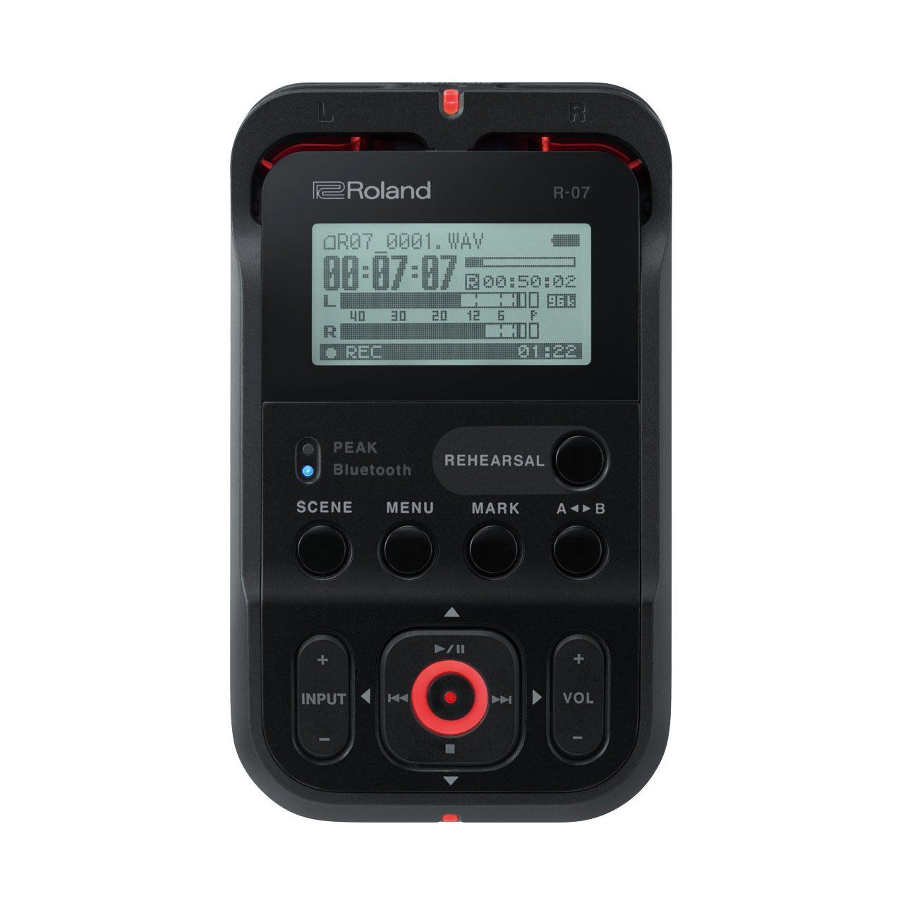 Portable Recorder - Roland R-07 High-Resolution Audio Recorder (Black)
