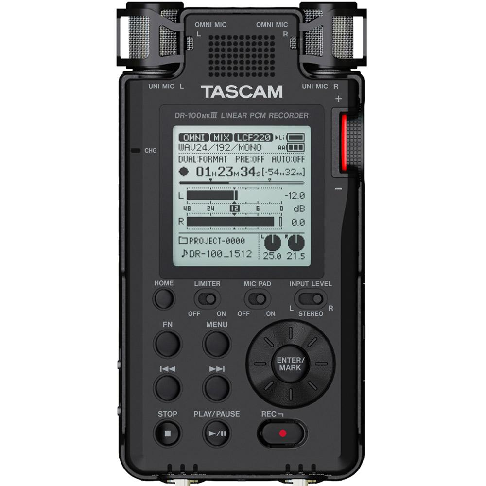Portable Recorder - TASCAM DR-100MKIII Portable Linear PCM Recorder