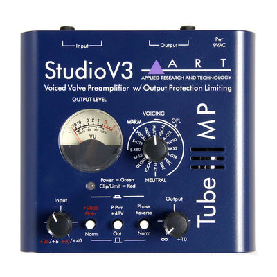 Preamps/Channel Strips - ART Tube MP Studio V3 Voiced Valve Preamp W/Output Protection Limiting