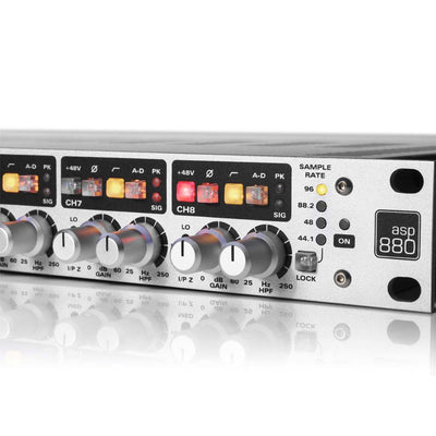 Preamps/Channel Strips - Audient ASP880 8-Channel Microphone Preamplifier And ADC