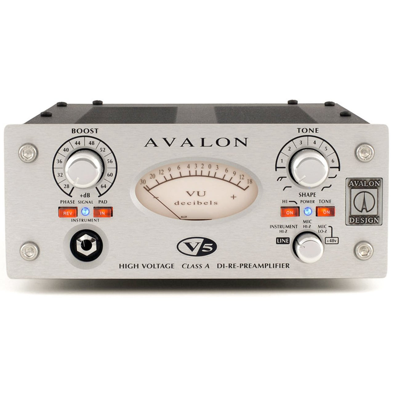 Preamps/Channel Strips - Avalon Design V5 Pure Class A Microphone Preamplifier SILVER