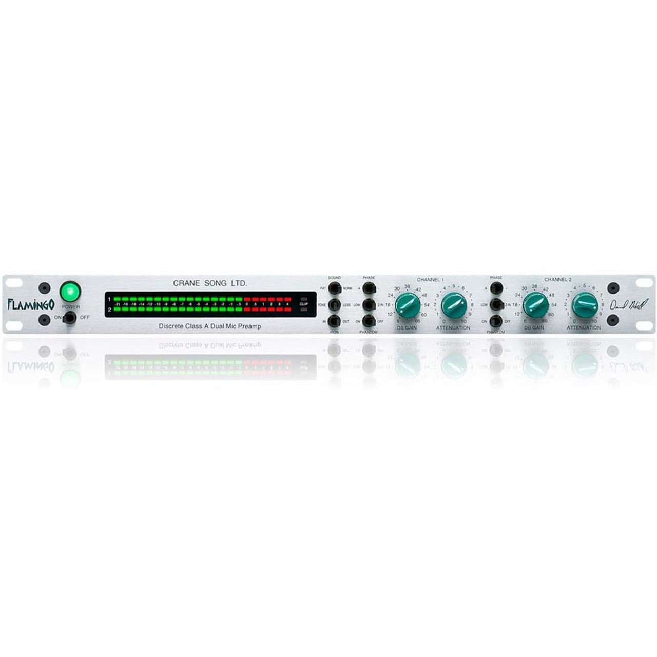 Preamps/Channel Strips - Crane Song Flamingo Two Channel Discrete Class-A Microphone Preamp