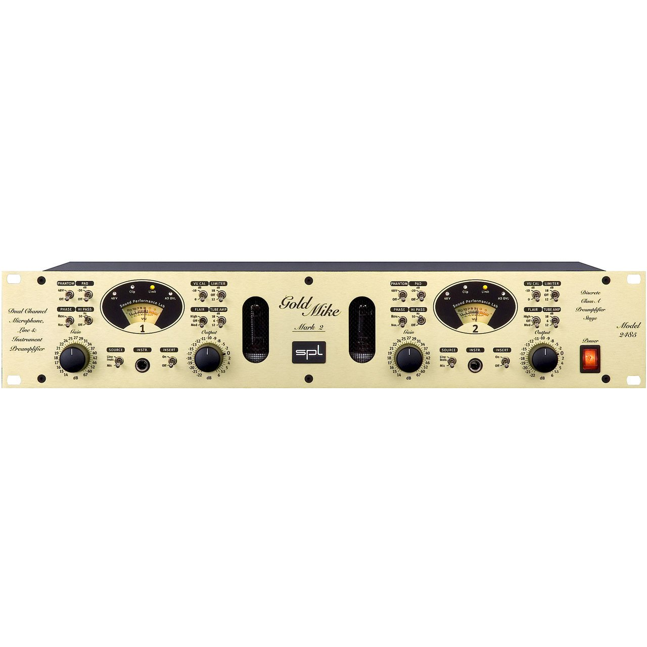 Preamps/Channel Strips - SPL GoldMike Mk2 Dual-Channel Microphone And Instrument Preamplifier