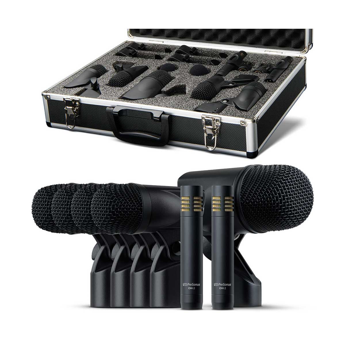 Presonus DM-7 Complete Drum Microphone Set for Recording and Live Sound