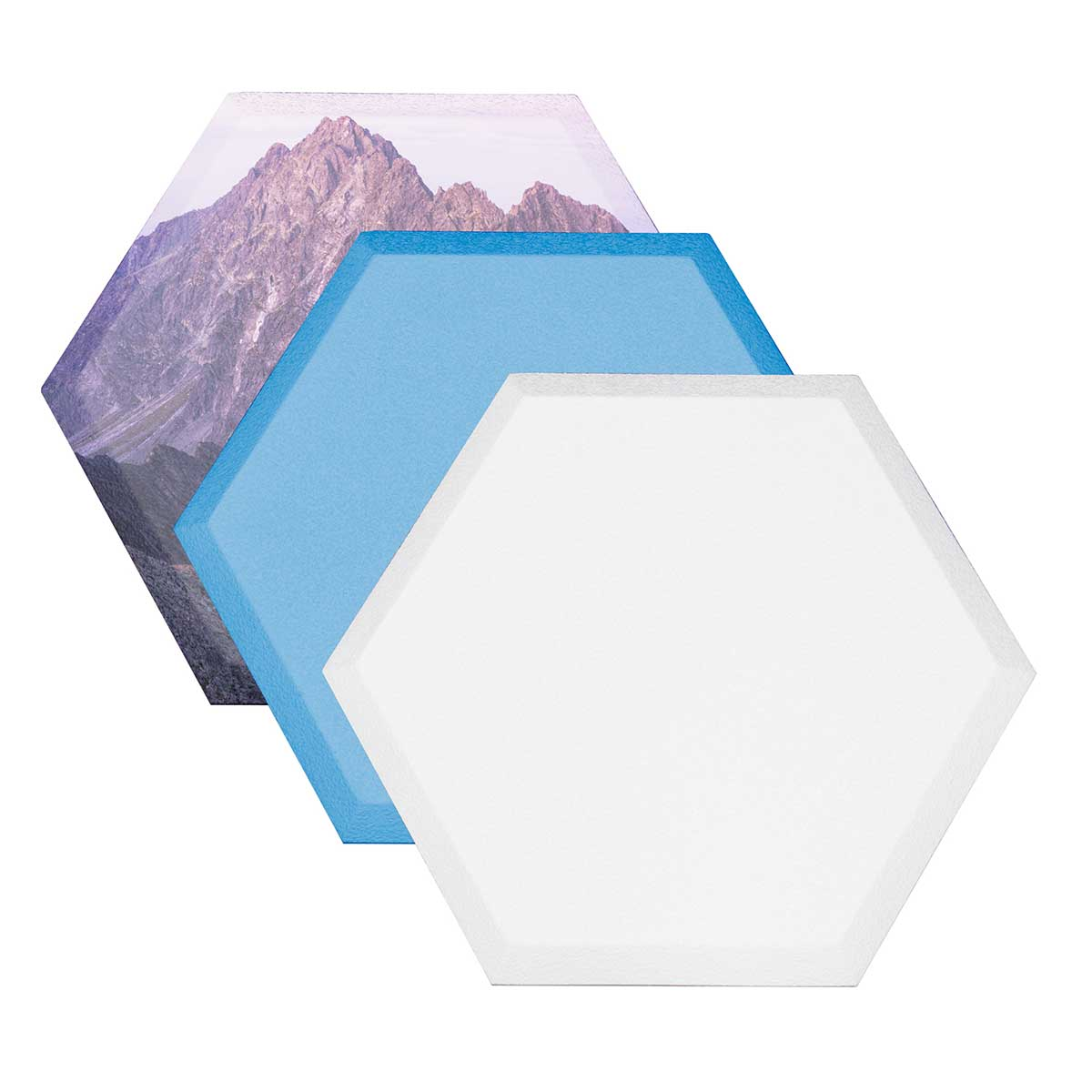 "Honeycomb 14""x16""x1.5"" hexagonal white paintable panels 12pc set P115 1416 09"
