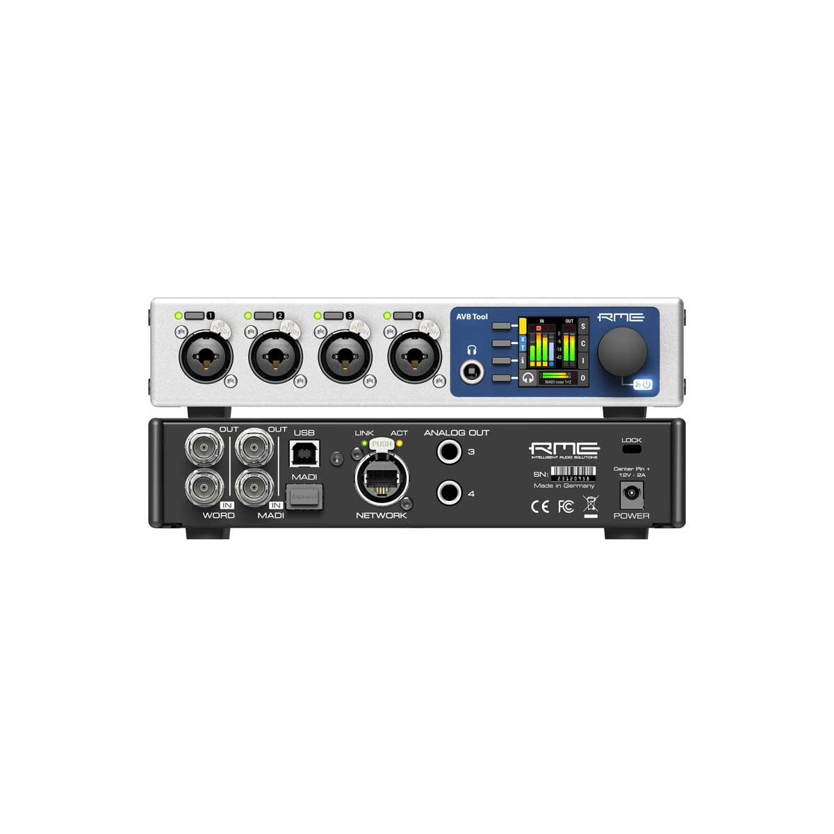 RME AVB Tool Half-rack MADI-AVB interface with outstanding analog connectivity