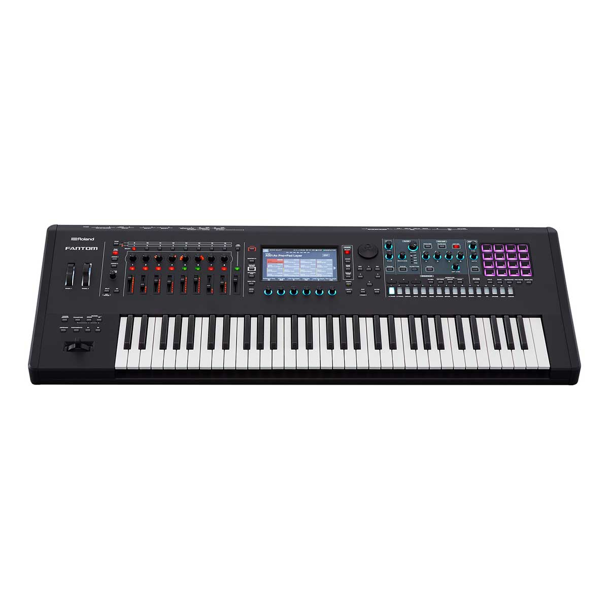 Roland Fantom 6 semi-weighted Keyboard Synthesizer Workstation with 61 keys and aftertouch