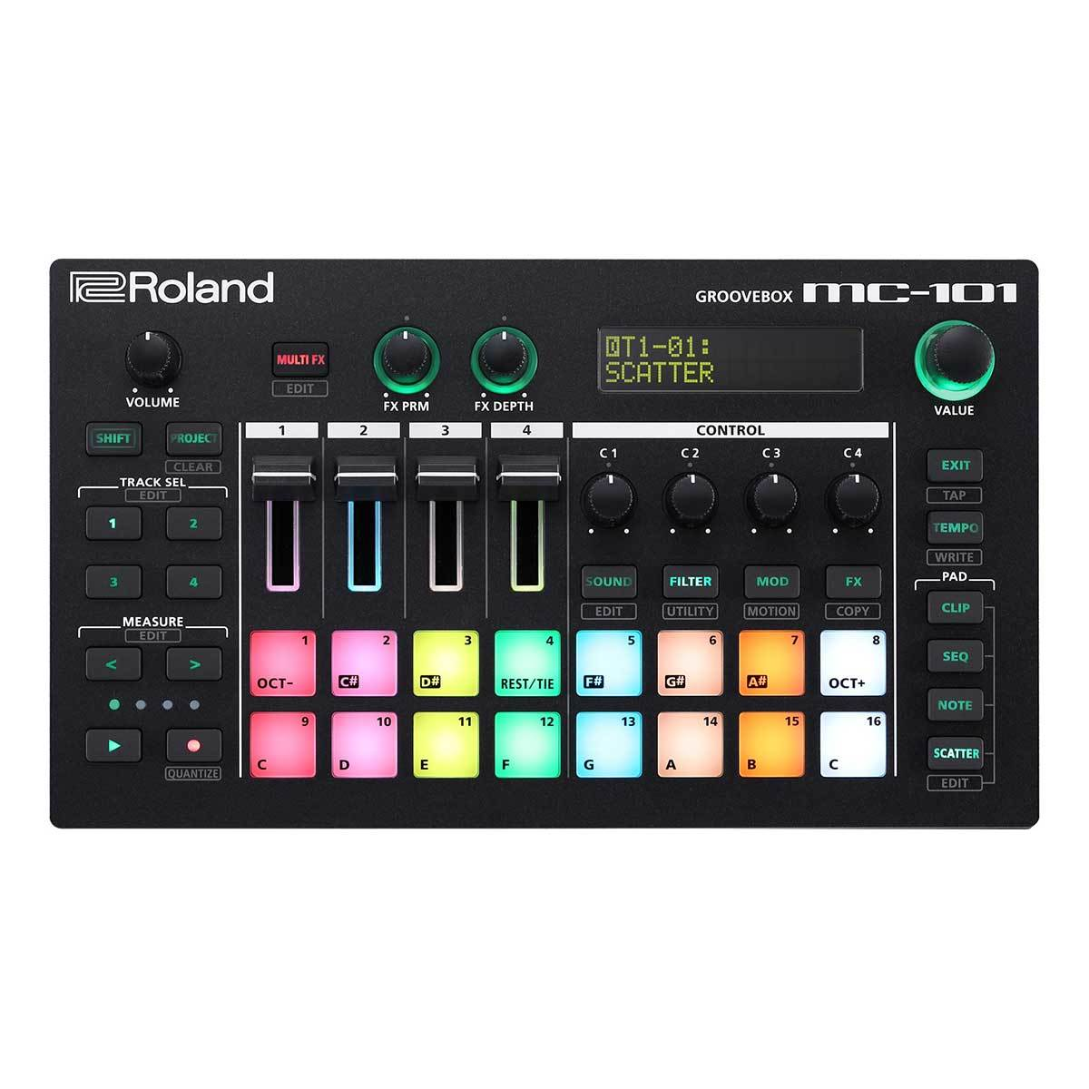 Roland MC-101 GROOVEBOX Top