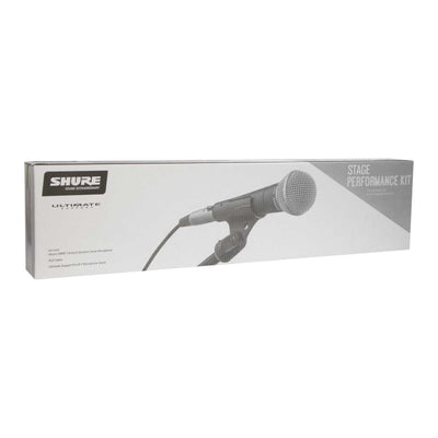 Shure Stage Performance Kit includes SM58 mic, XLR cable & mic stand