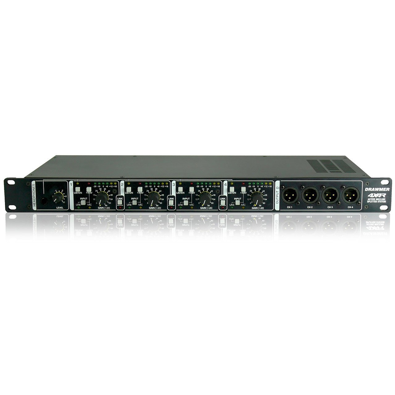 Signal Routing - Drawmer 4X4R - Rackmount Active Splitter