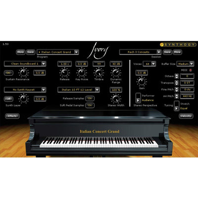 Software Instruments - Synthogy Ivory II Italian Grand Software Instrument Piano