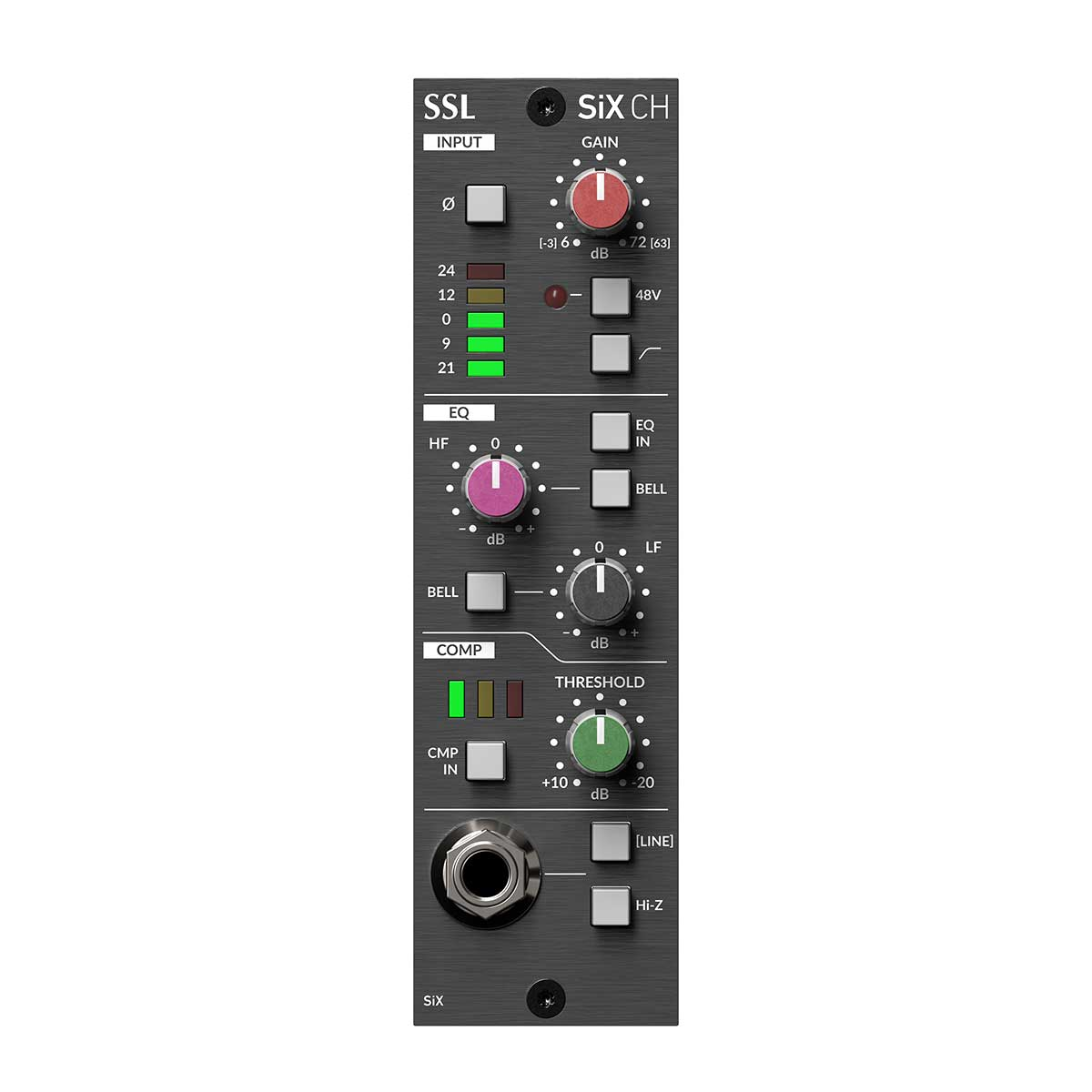 Solid State Logic SiX Channel Strip SSL channel strip processing in 500 Series format
