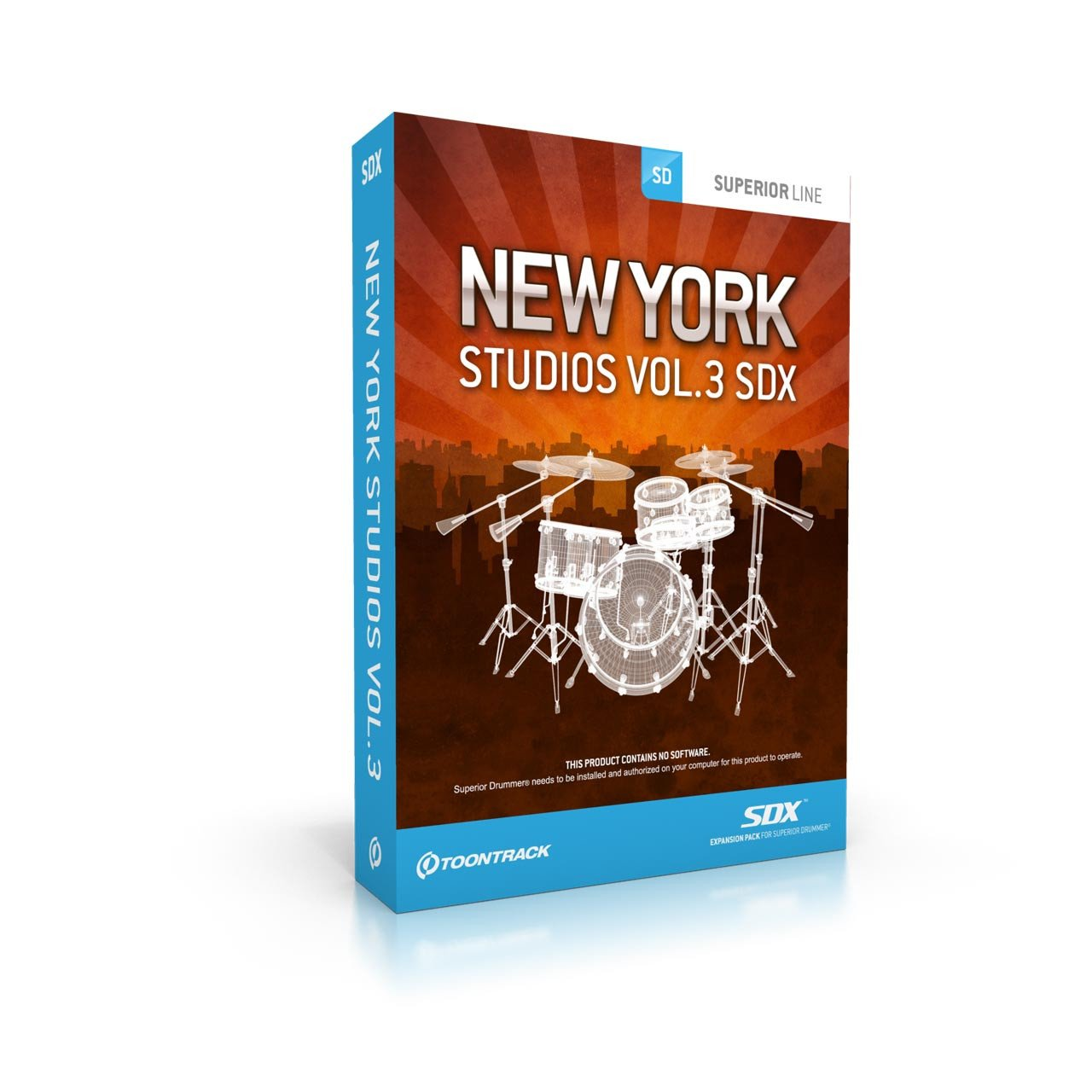 Sound Library Expansions - Toontrack New York Studios Vol.3 SDX - Sound Expansion For SD2