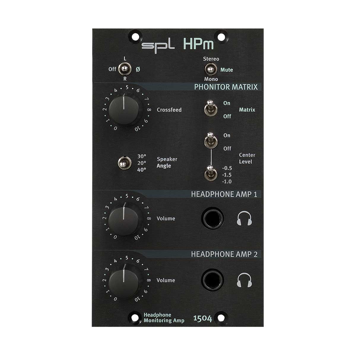 SPL HPm 500-series Headphone Monitoring Amplifier Front