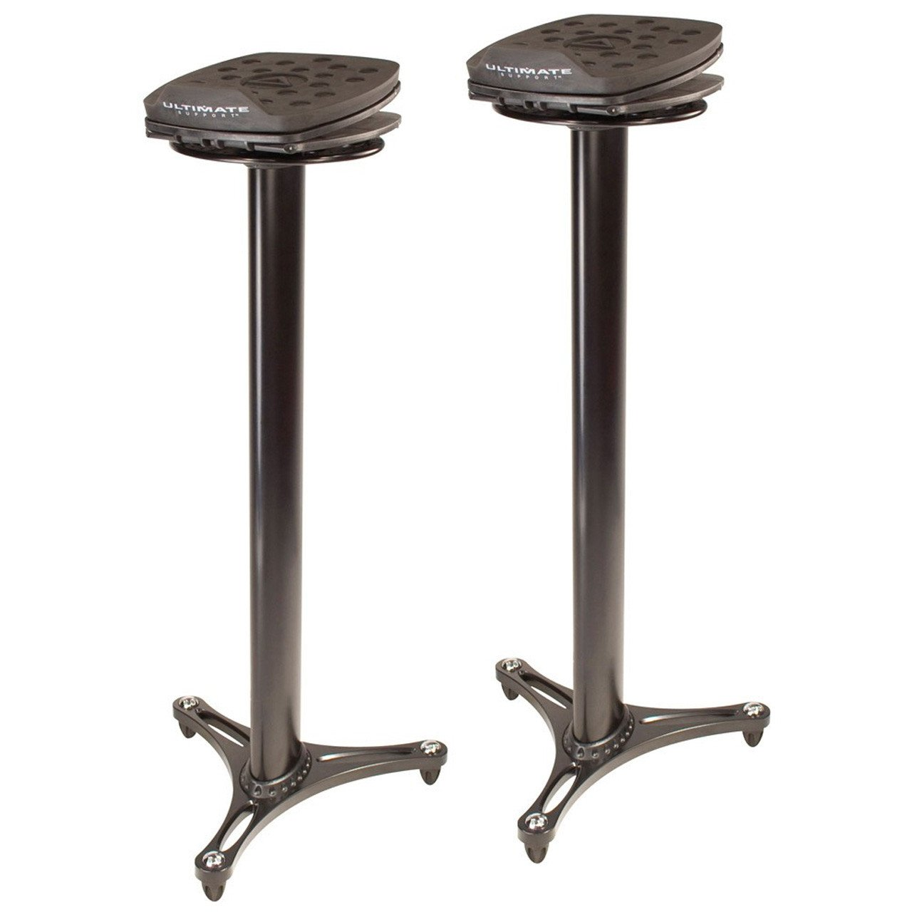 Studio Monitor Stands - Ultimate Support MS-100B Professional Column Studio Monitor Stands