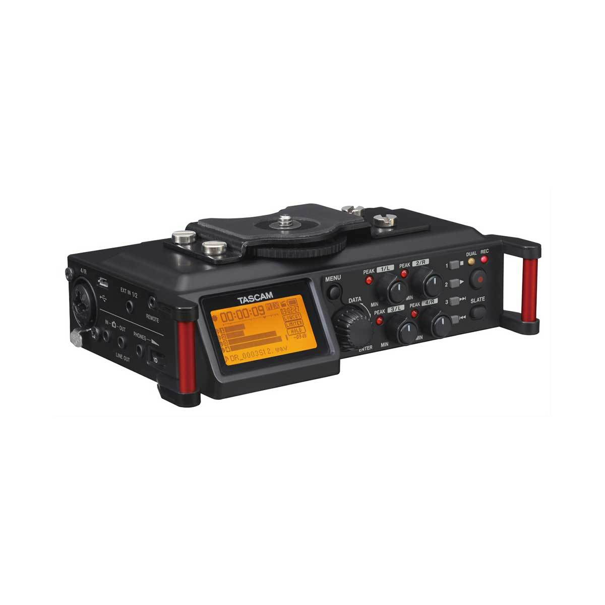 TASCAM DR-70D Four-track PCM Recorder for DSLR Video Production
