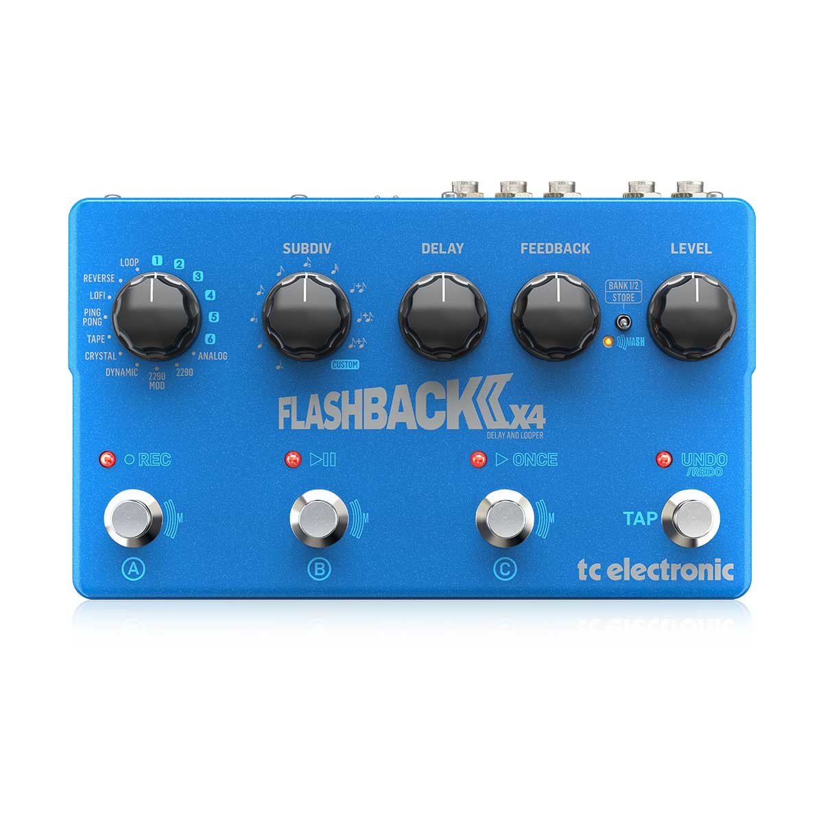 TC Electronic Flashback 2 X4 Delay Pedal Top