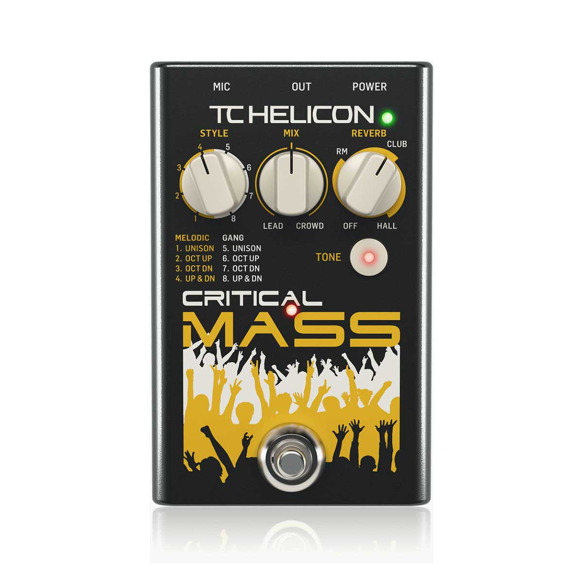 TC Helicon Critical Mass Studio-Quality Vocal Stompbox for Large Group-Sound Effects