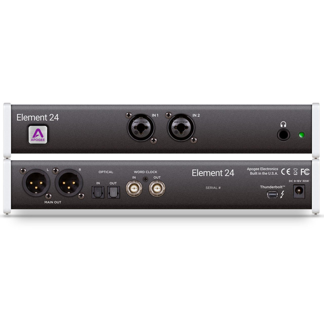 Thunderbolt Interfaces - Apogee Element 24 Thunderbolt Audio Interface