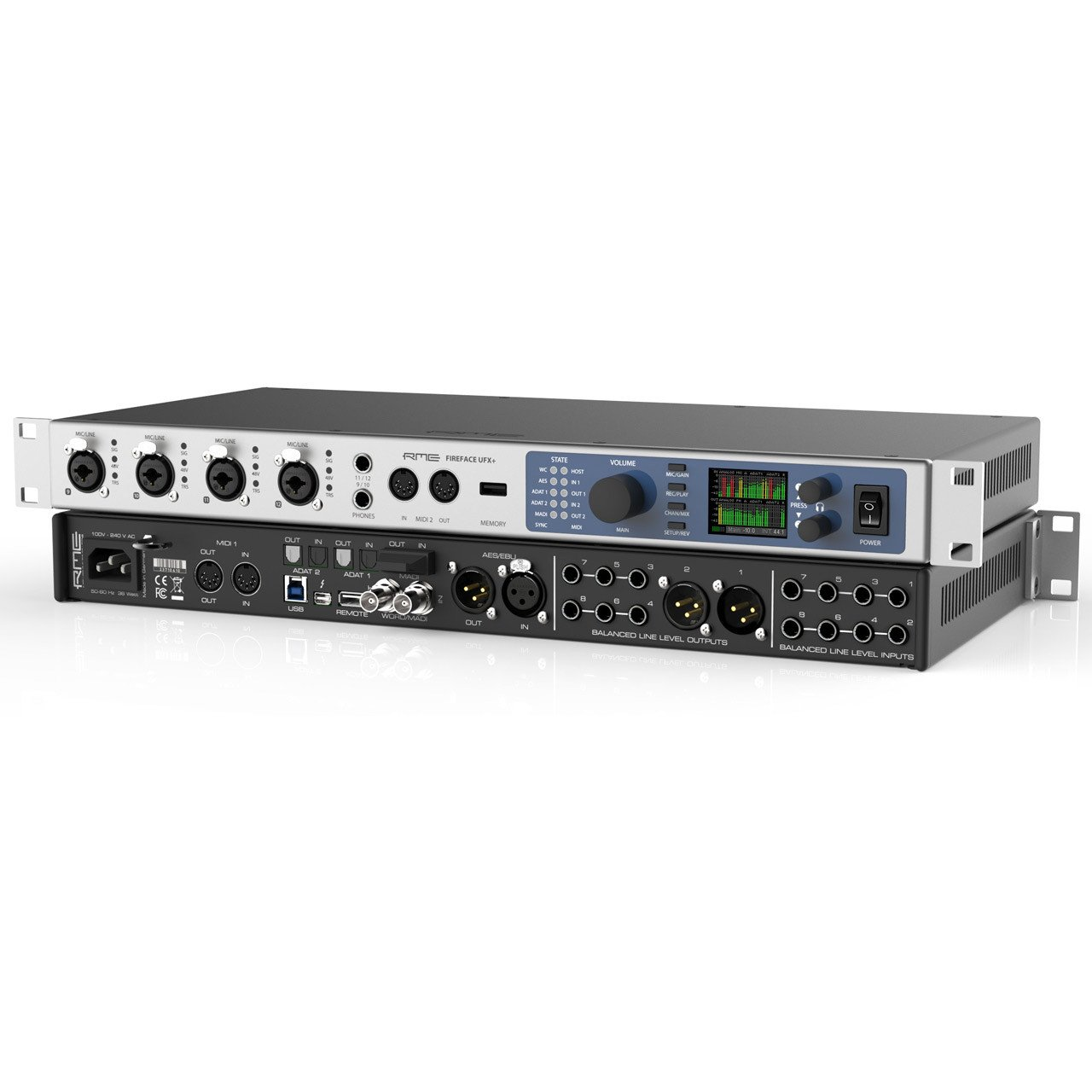 Thunderbolt Interfaces - RME Fireface UFX+ 188-Channel USB & Thunderbolt Audio Interface