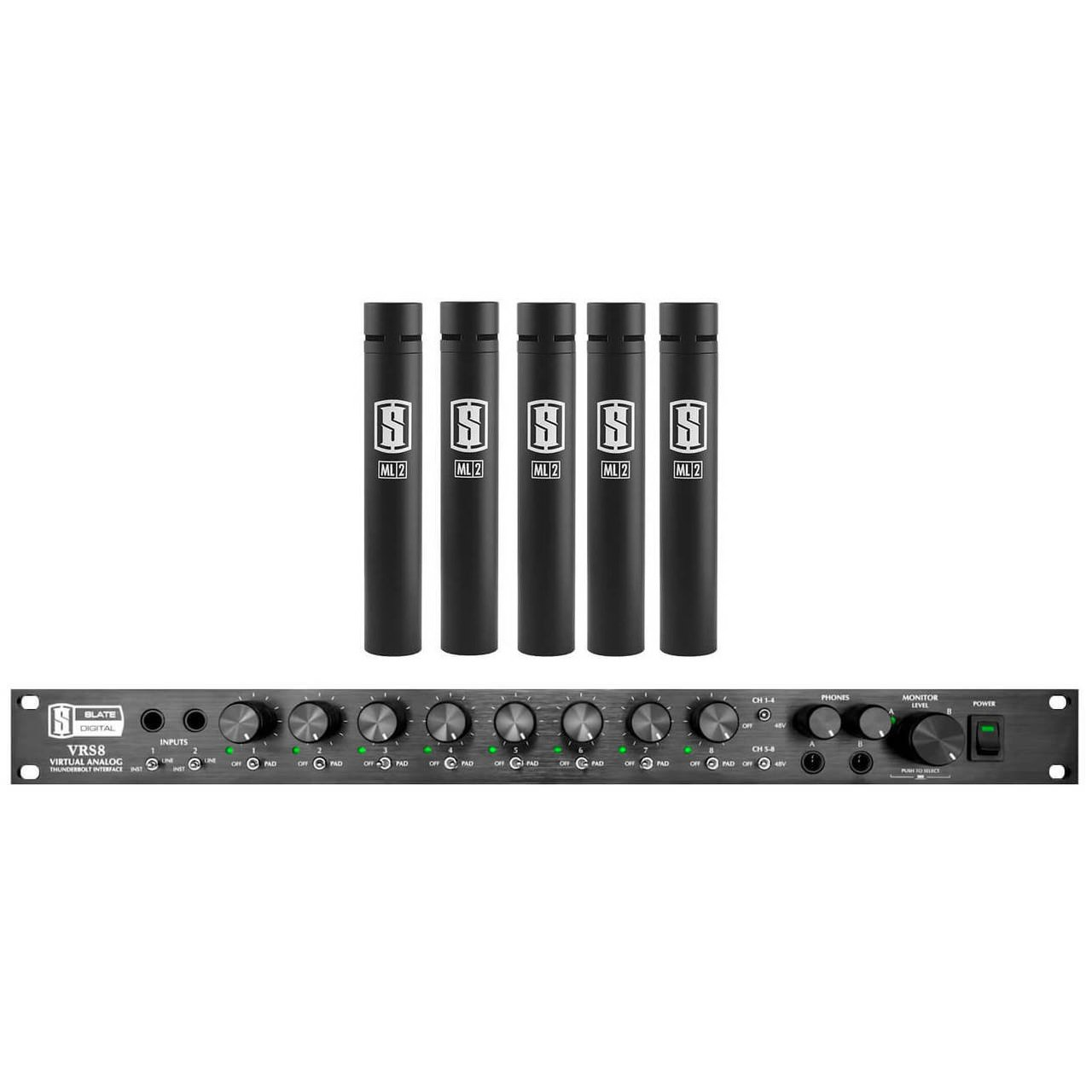 Slate Digital VRS8 Audio Interface + 5-pack of ML-2 Modelling Microphones