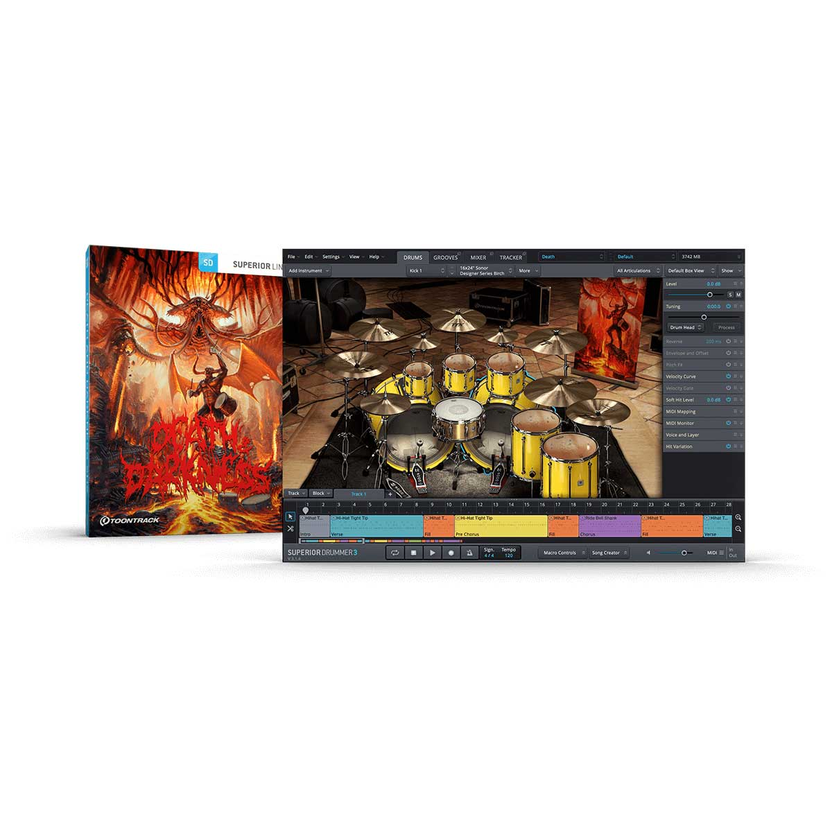 Toontrack Death & Darkness SDX (serial number)