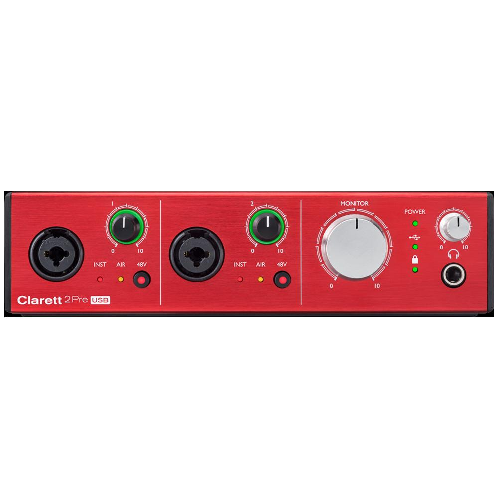 USB Audio Interfaces - Focusrite Clarett 2Pre USB Audio Interface For Mac And PC
