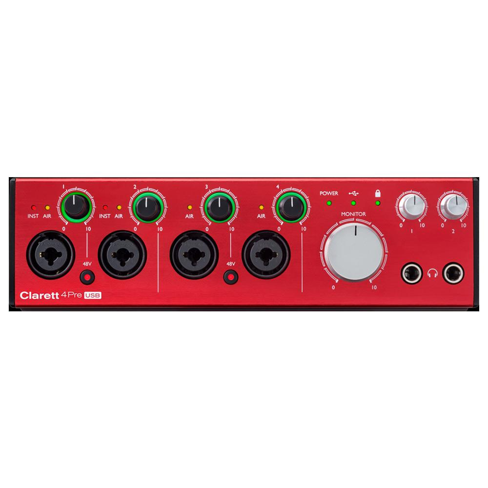 USB Audio Interfaces - Focusrite Clarett 4Pre USB Audio Interface For Mac And PC