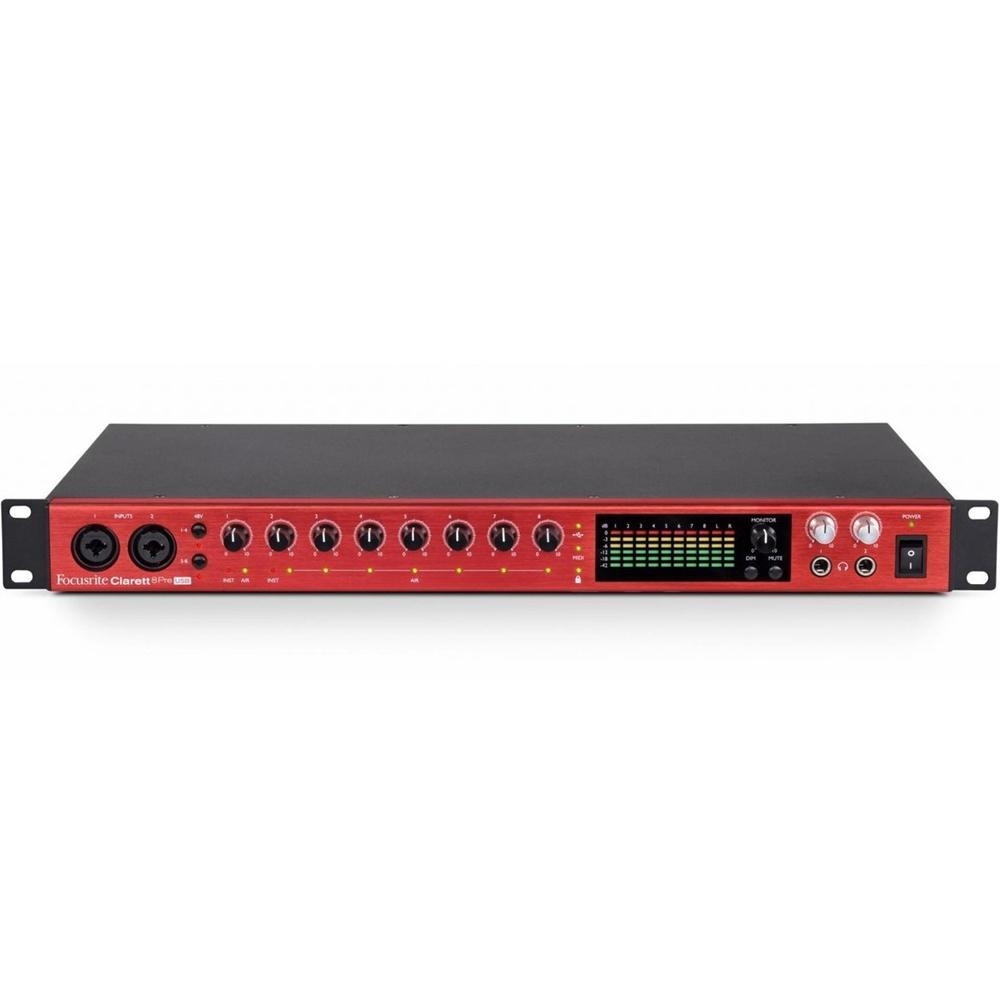 USB Audio Interfaces - Focusrite Clarett 8Pre USB Audio Interface For Mac And PC