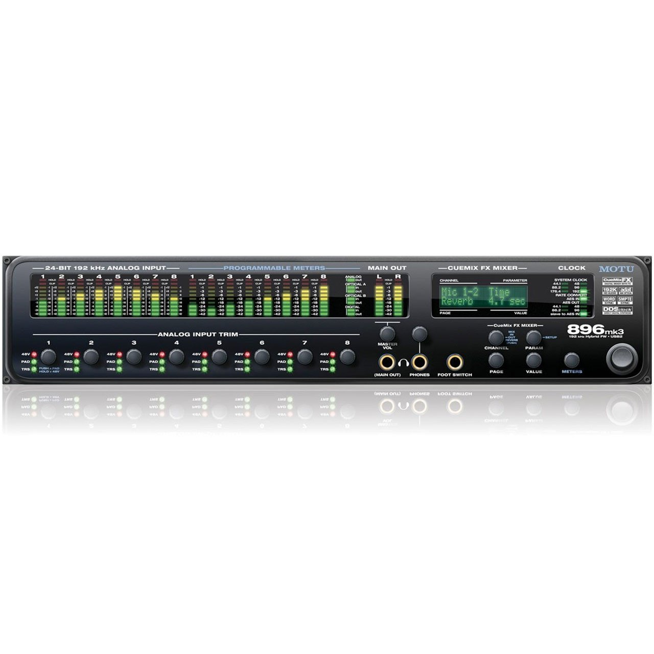 USB Audio Interfaces - MOTU 896mk3 Hybrid - USB & Firewire Audio Interface