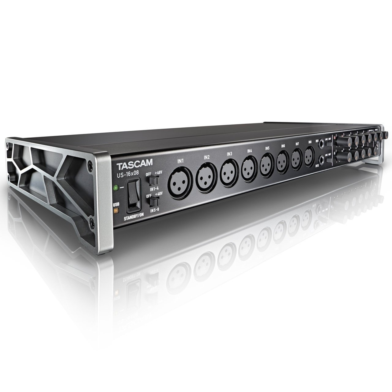 USB Audio Interfaces - TASCAM US-16x08 16-input Audio Interface For Mac, Windows And IPad