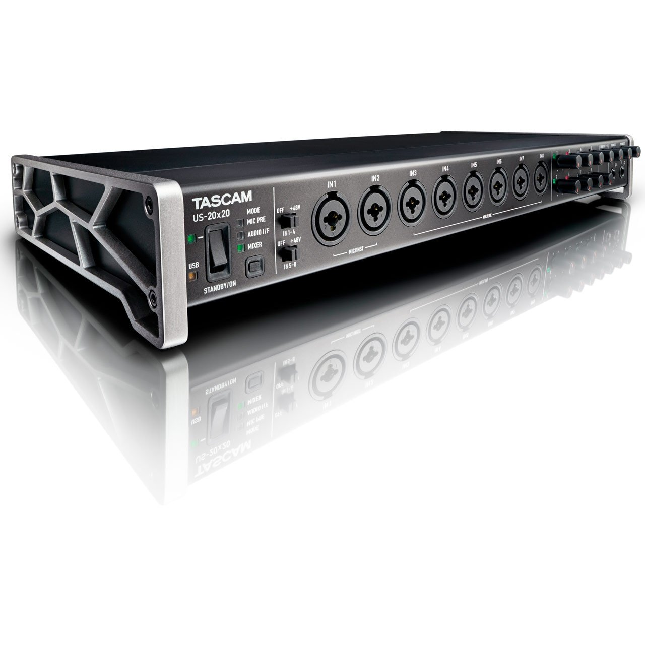 USB Audio Interfaces - TASCAM US-20x20 USB 3.0 Audio MIDI Interface With Mic Pre/Mixer