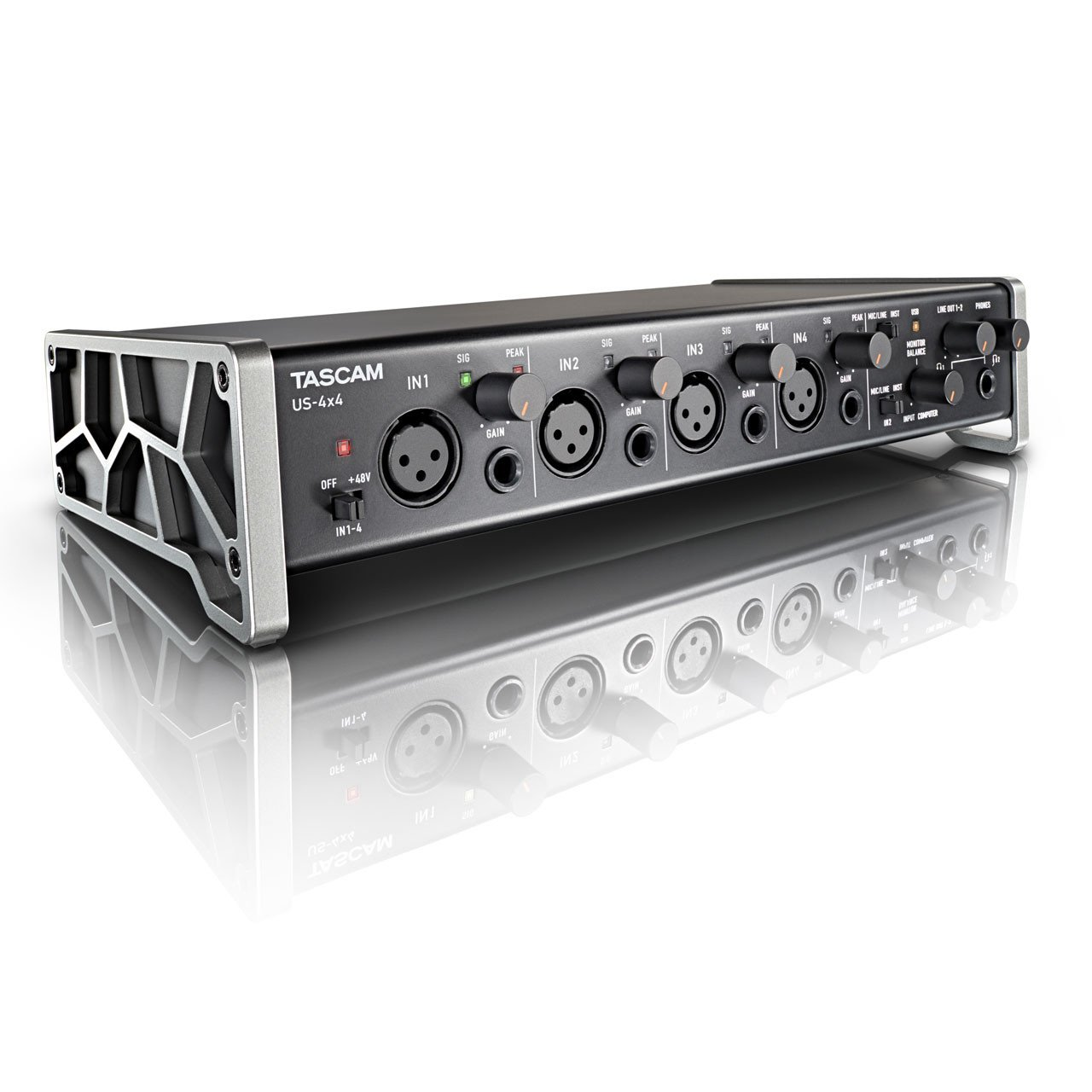USB Audio Interfaces - TASCAM US-4x4 USB Interface With HDDA Mic Preamps & IOS Compatibility