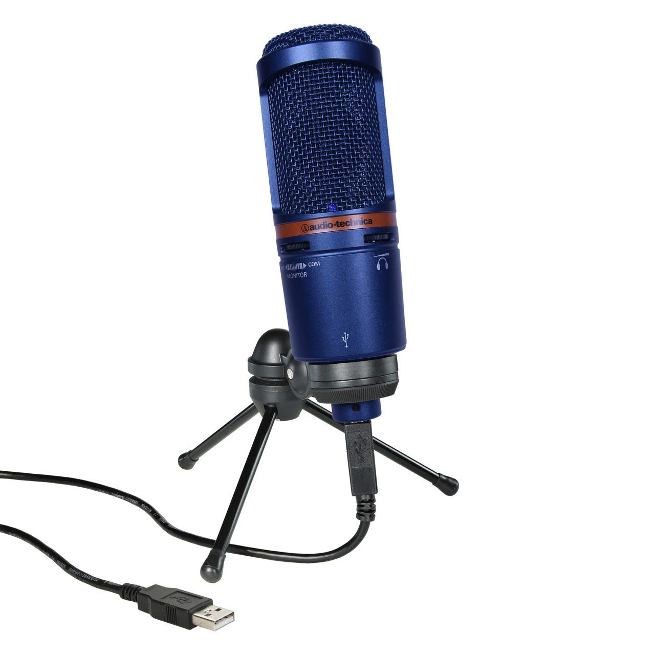 Audio-Technica AT2020USB+ BLUE Limited Edition USB Condenser Microphone