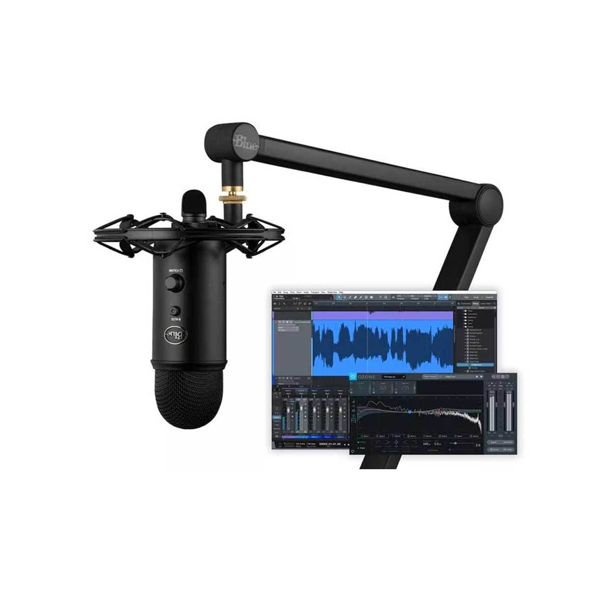 USB Microphones - Blue Yeticaster Studio Pro Podcast Bundle With Yeti, Radius III And Compass