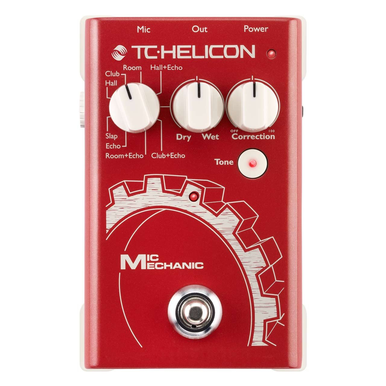 Vocal Effects - TC Helicon Mic Mechanic 2 Battery-Powered Vocal Effects Stompbox