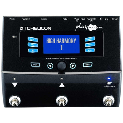 Vocal Effects - TC Helicon Voicelive Play Acoustic - Vocal & Guitar Multi-FX Pedal