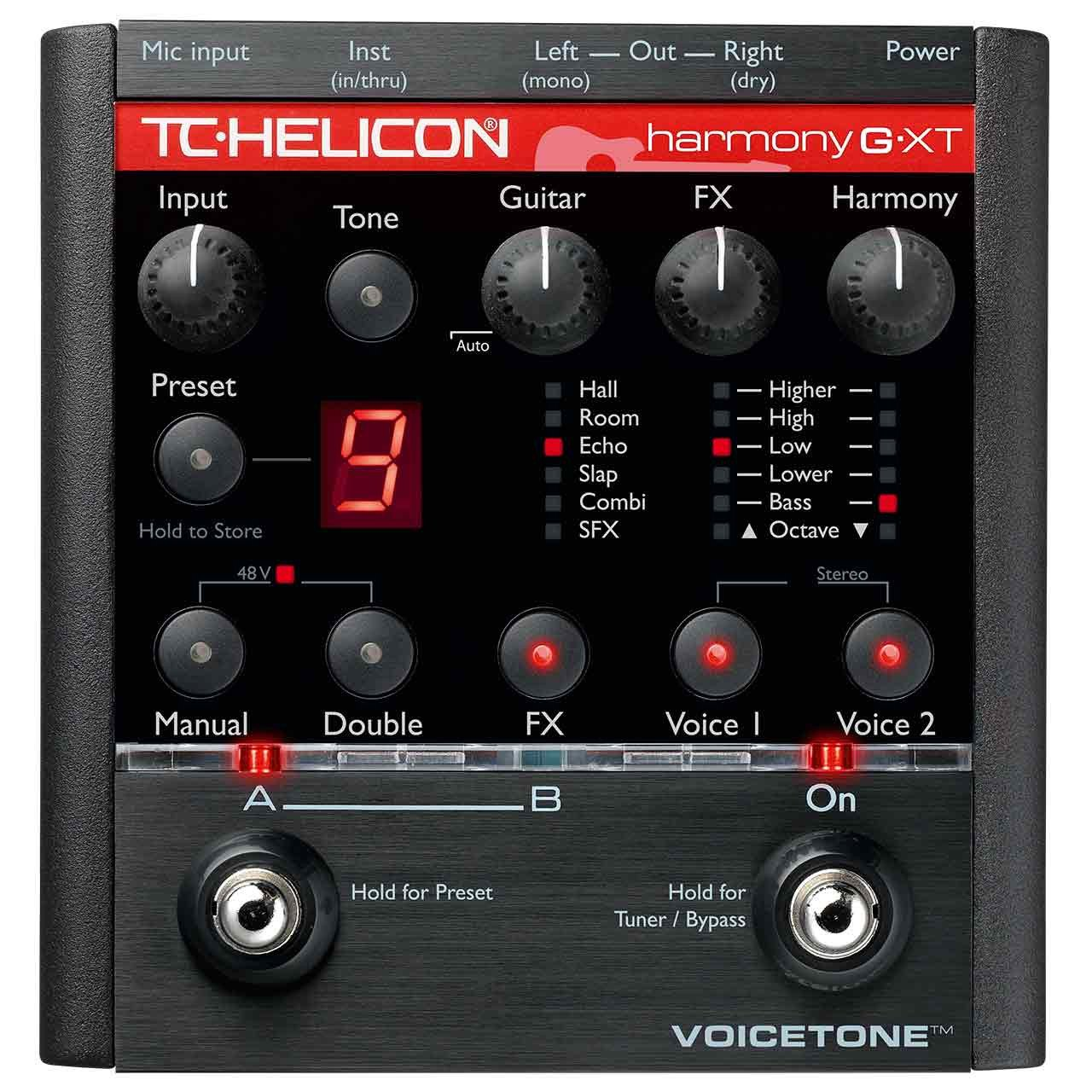 Vocal Effects - TC Helicon VoiceTone Harmony-G XT - Effects Pedal