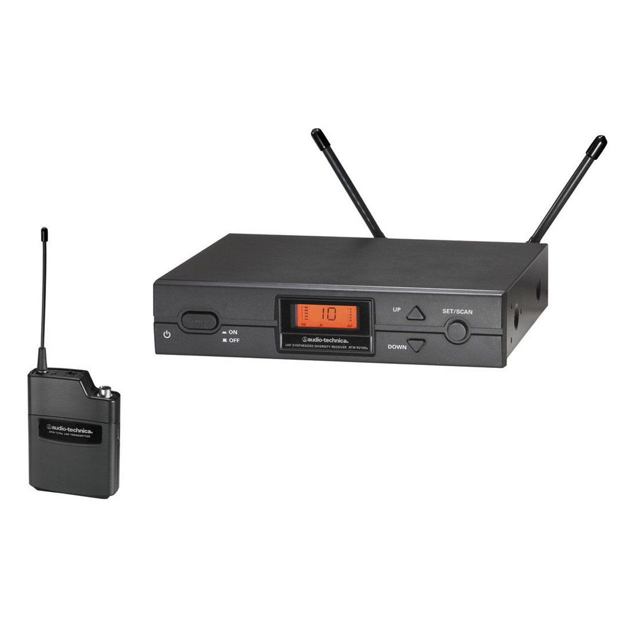 Wireless Systems - Audio-Technica ATW-2110bD - 2000 Series Receiver And Body Pack Transmitter