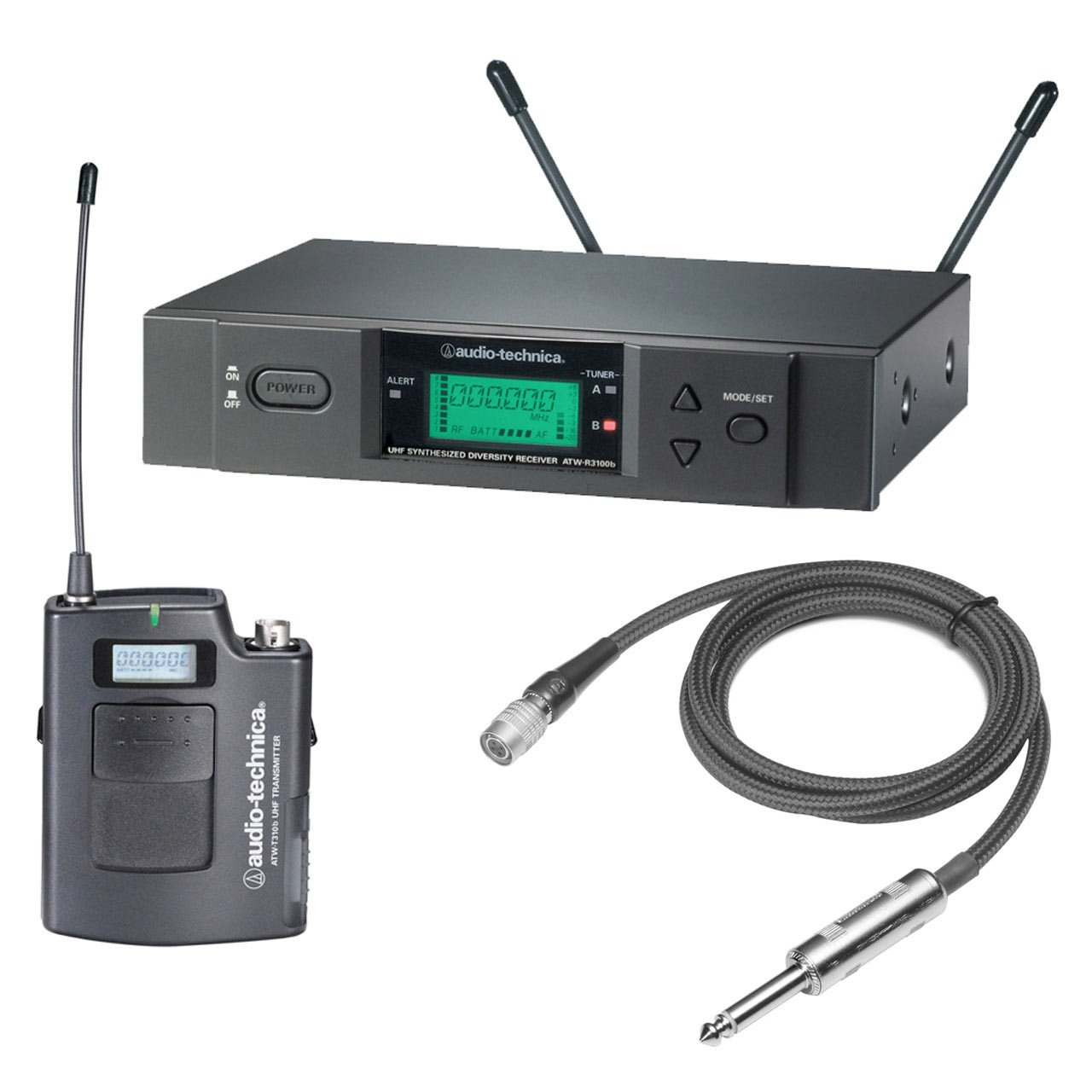 Wireless Systems - Audio-Technica ATW-3000G - 3000 Series Receiver And Transmitter For Guitar.