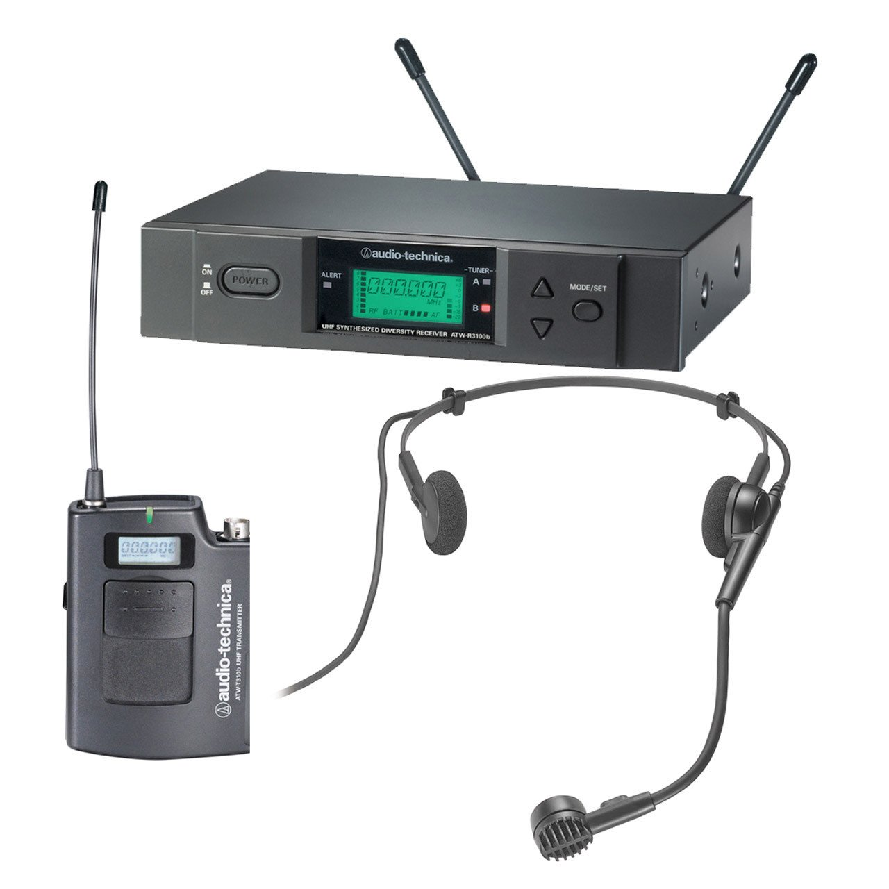 Wireless Systems - Audio-Technica ATW-3000Head08 - 3000 Series Receiver And Dynamic Headworm Mic.