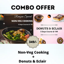 Load image into Gallery viewer, Combo : Donuts and Eclairs +  Ramzan Special Non-Veg Cooking = 349₹
