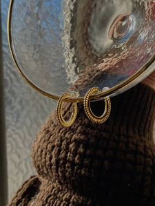 Spike Hoop Gold