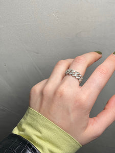 Glam Chain Ring Silver