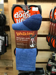 It's a Dog's Life Walkies Socks Large Heather Blue