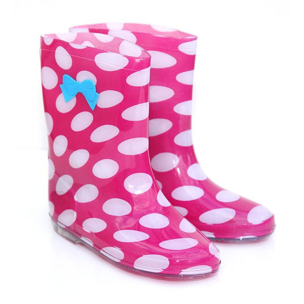 Kid's Pink Polka Dot Wellies