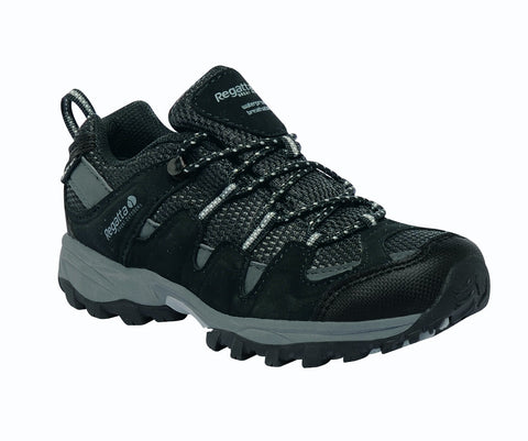 Regatta Boy's Garsdale Low Walking Shoe Black